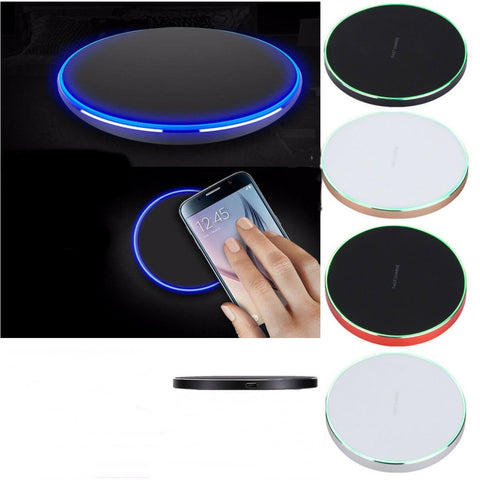 Qi Wireless Slim Pad Mat Fast Charger for iPhone X / 8 Plus - Rewardeals