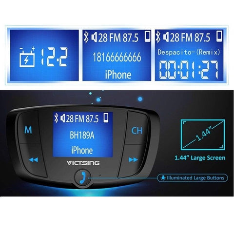 Wireless Bluetooth Car FM Transmitter Radio Adapter 2 USB Charger - Rewardeals