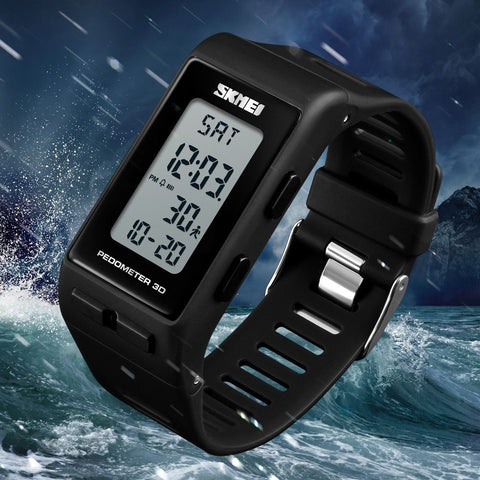 Universal Waterproof LED Pedometer Calories Bracelet Digital Wrist Watch - Rewardeals