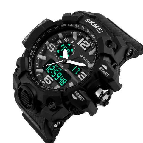Men's Military Sport Digital Time Date Alarm Waterproof Quartz Wrist Watch - Rewardeals