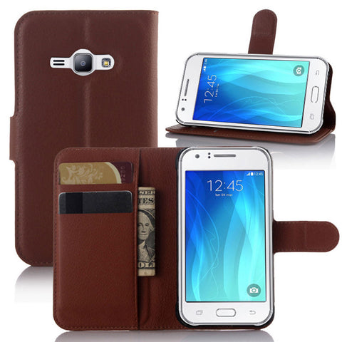 Protective Leather Flip Wallet Phone Cover for Samsung Galaxy J7 - Rewardeals