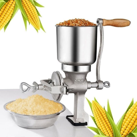 Hand Operated Corn Mill Grinder to Effortlessly Grind Meat Vegetables Grains - Rewardeals
