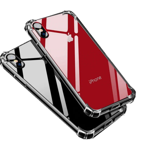 Hybrid Shockproof Thin Clear TPU Bumper Case iPhone 6 7 8 Plus X XR XS Max - Rewardeals