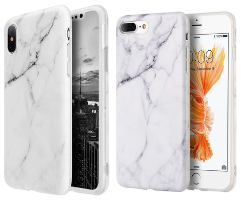 Hard TPU Rubber Phone Case Cover Marble for iPhone 6 7 8 Plus X XR XS Max - Rewardeals