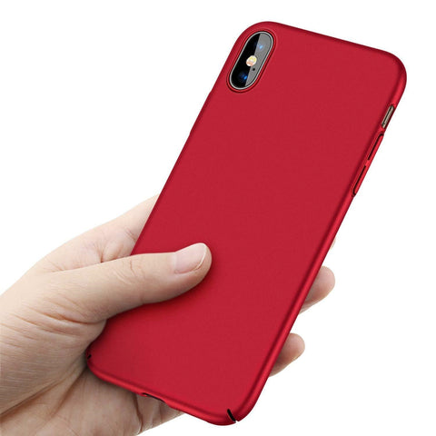 Luxury Matte Ultra-Thin Back Phone Case Cover for iPhone X 8 6 6s 7 Plus - Rewardeals