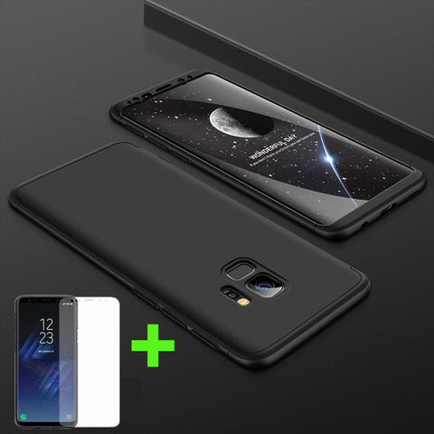 Shockproof Full Black 360° Case with Screen Protector for Samsung Galaxy Note 9 8 S9 S8 S7 Plus - Rewardeals
