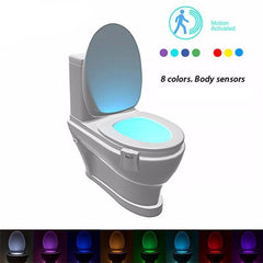 8 Colors Body Motion Light Toilet Sensor - Rewardeals