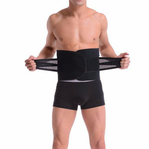 Unisex Waist Trainer Shaper Adjustable Support Pain Relief Belt - Rewardeals