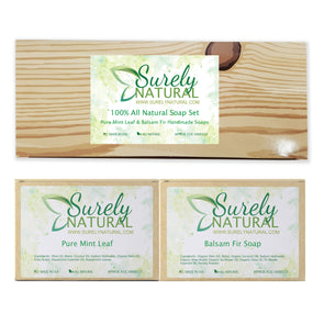 100% All Natural Soap Gift Set (Peppermint and Fir Needle)
