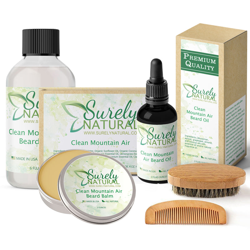 Natural Beard and Body Care Gift Set - Clean Mountain Air