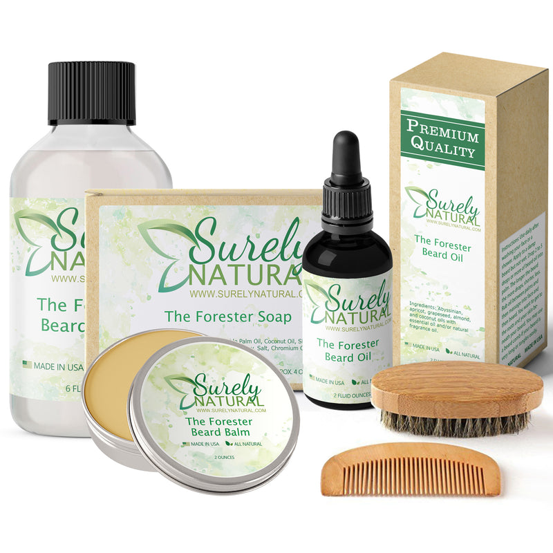 Natural Beard and Body Care Gift Set - The Forester