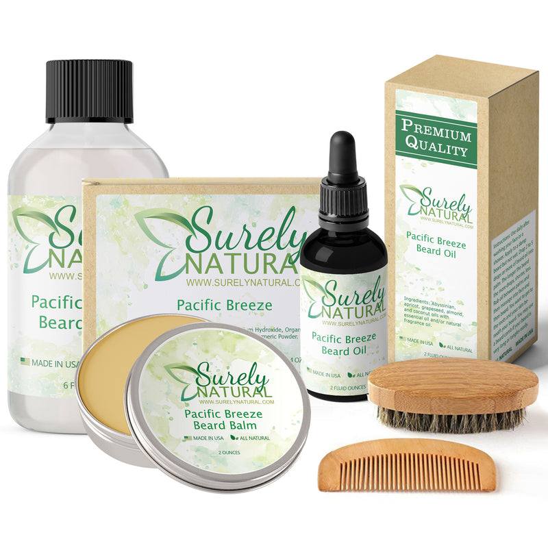 Natural Beard and Body Care Gift Set - Pacific Breeze