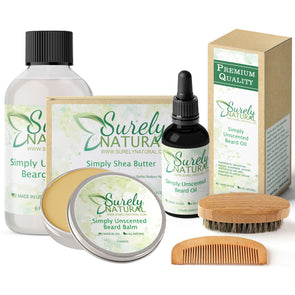 Natural Beard and Body Care Gift Set - Simply Unscented