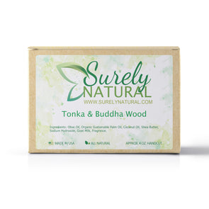 Surely Natural Tonka and Buddha Wood Soap