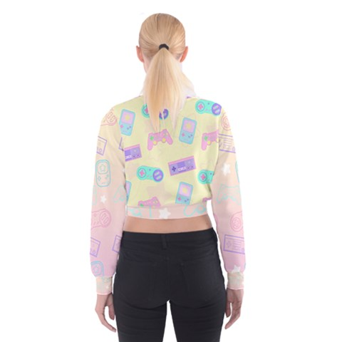 Kawaii Gamer Cropped Sweatshirt