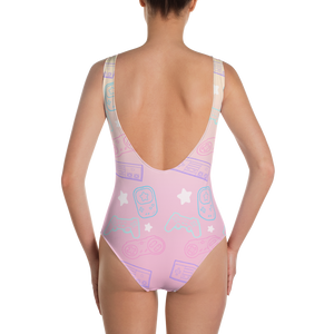 Kawaii Gamer One-Piece Swimsuit