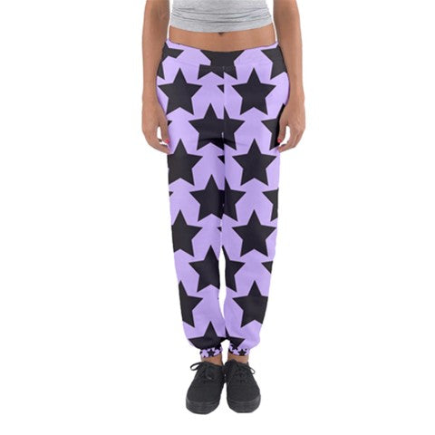 Black and Purple Starry Pants