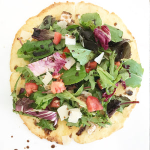 Gluten Free Cauliflower Crust Pizza Salad