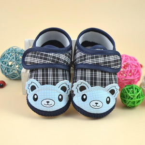 Newborn Baby Cartoon Style Lattice Shoes