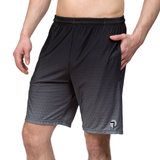 Athletic shorts for shorter men by ATK Apparel. Flow Shorts with adequate stretch in Black. Breathe easy. Comfortable.