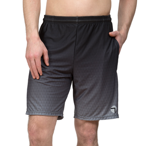 Athletic shorts for shorter men by ATK Apparel. Flow Shorts with adequate stretch in Black.