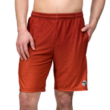 Athletic shorts for shorter men by ATK Apparel. Flow Shorts with adequate stretch in Red.