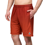 "ATK Apparel athletic shorts for men 5'8"" and under - Flow Shorts in Red. Comfy shorts for shorter men."