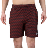 "ATK Apparel athletic shorts for men 5'8"" and under - Performance Shorts in Red. Front view. Great shorts for working out."