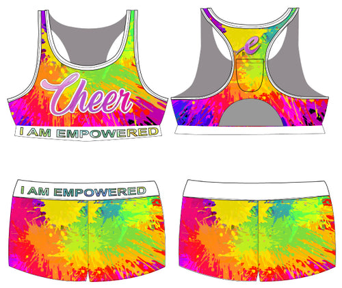 Paint Splatter Bra Tops & Shorts