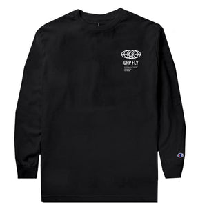 77 Road Long Sleeve Champion Tee - Black