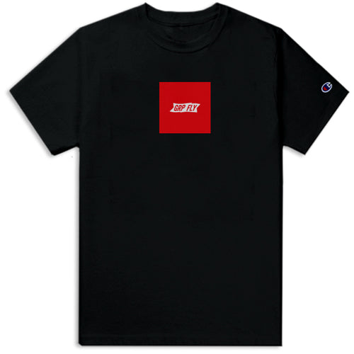 Box Banner Champion Tee - Black