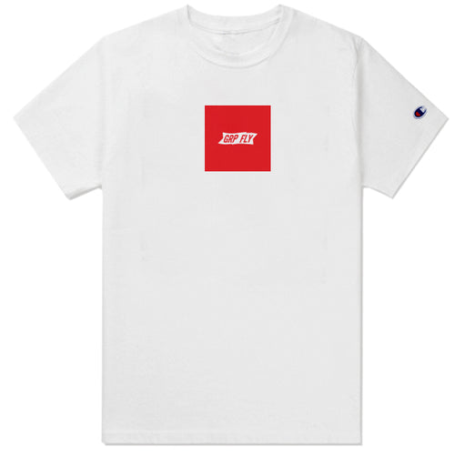Box Banner Champion Tee - White