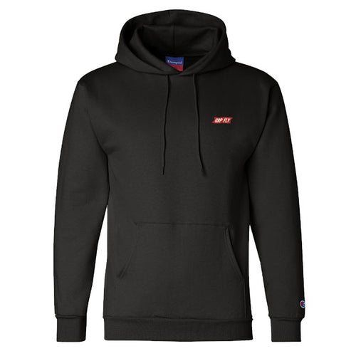 Champion Embroidered Banner Hoodie / Black