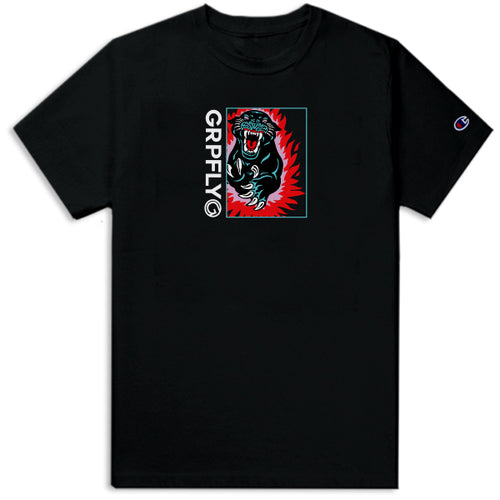 Action Panther Champion Tee - Black