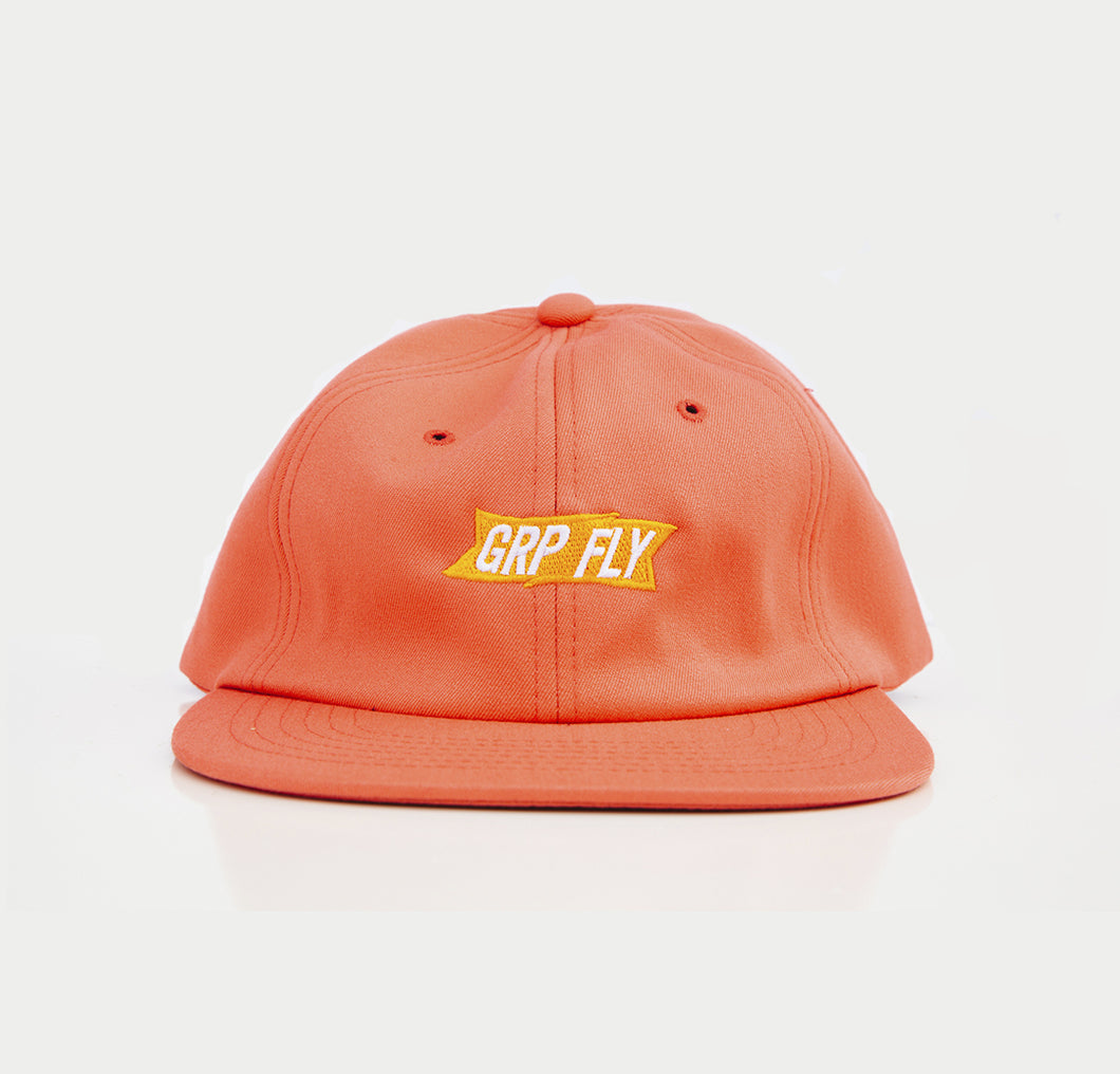CORAL / YELLOW BANNER STRAP BACK