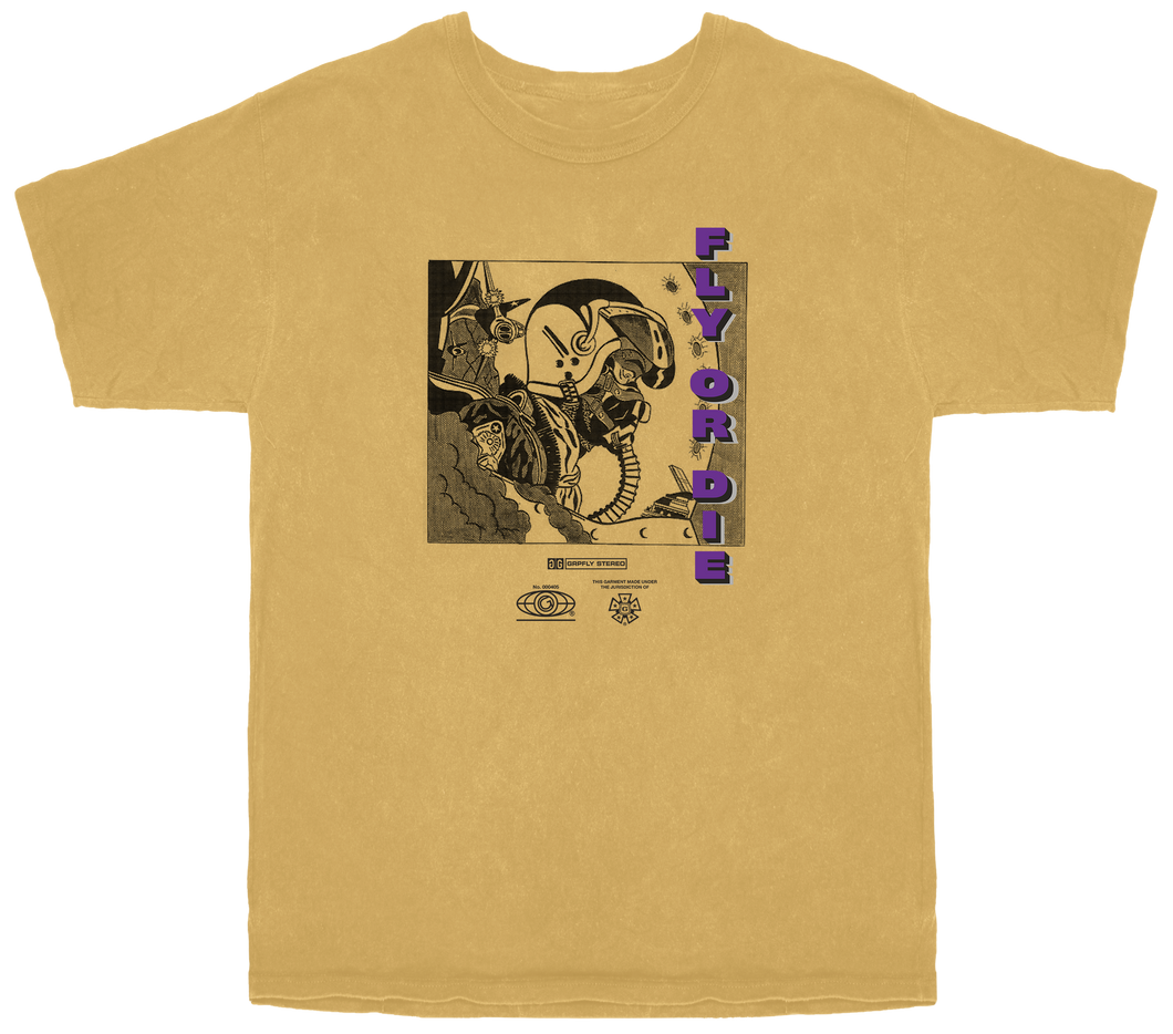 Anime Cadet Tee- Gold