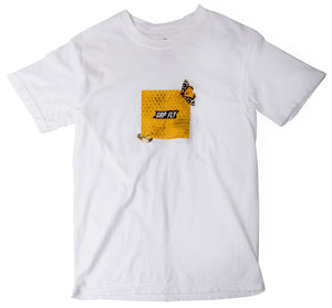Honeycomb Box Tee - White