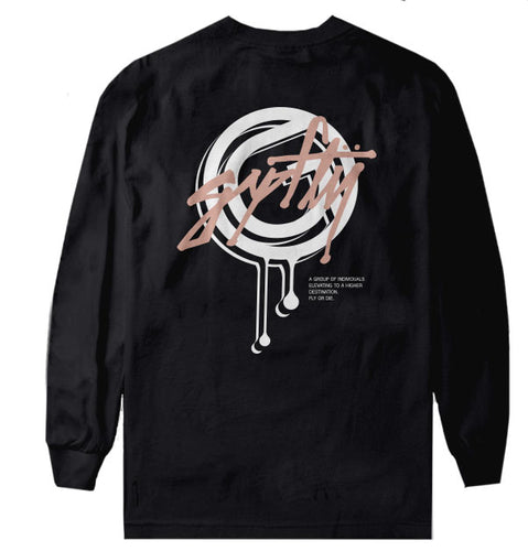 Script Long Sleeve Black