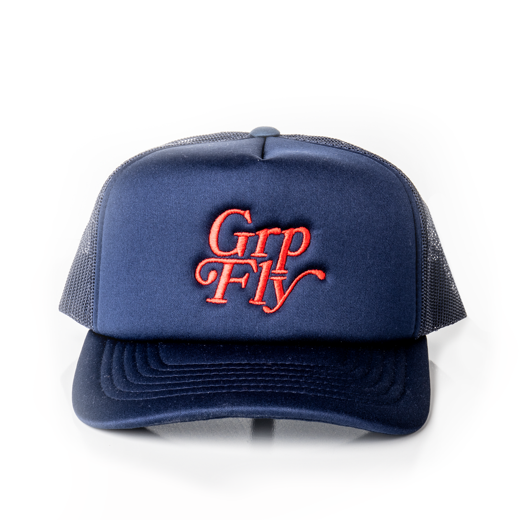 Stamp Logo Trucker - Navy
