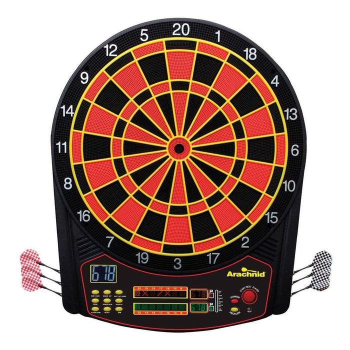 Arachnid Cricket Pro 800 Electronic Dartboard with Cabinet