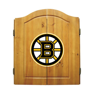 Imperial Boston Bruins Dartboard Cabinet Set-epicrecrooms.com
