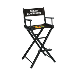 Imperial Chicago Blackhawks Bar Height Director Chair-epicrecrooms.com