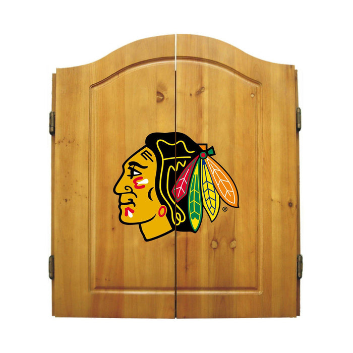 Imperial Chicago Blackhawks Dartboard Cabinet Set