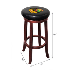 Imperial Chicago Blackhawks Wooden Bar Stool-epicrecrooms.com