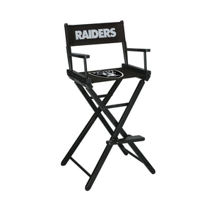 Imperial Las Vegas Raiders Bar Height Director Chair-epicrecrooms.com