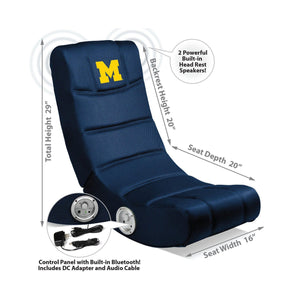 Imperial Michigan Video Chair with Bluetooth-epicrecrooms.com