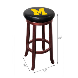 Imperial Michigan Wooden Bar Stools-epicrecrooms.com