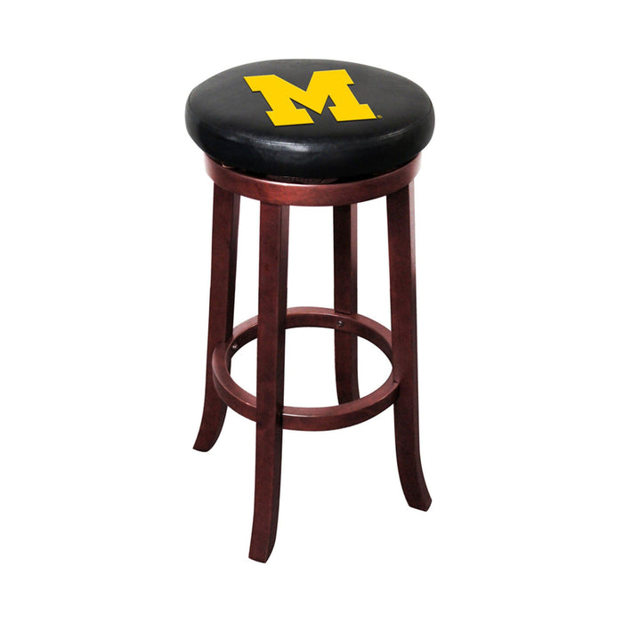 Imperial Michigan Wooden Bar Stool