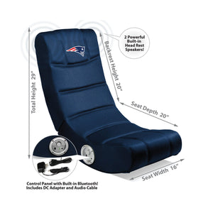 Imperial New England Patriots Video Chair with Bluetooth-epicrecrooms.com
