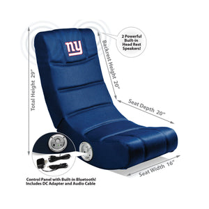 Imperial New York Giants Video Chair with Bluetooth-epicrecrooms.com